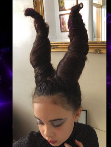 Maleficent Halloween Hairstyle